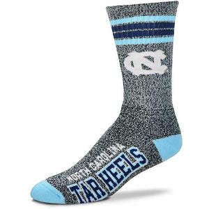 North Carolina Tar Heels - Marbled 4 Stripe Deuce Socks