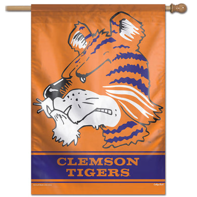 Clemson Tigers College Vault Vertical Flag - 28