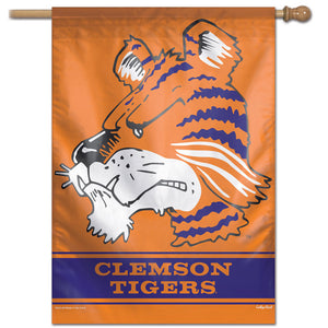 "Clemson Tigers College Vault Vertical Flag - 28"" X 40"""