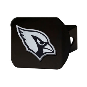 Arizona Cardinals Chrome Emblem On Black Hitch Cover
