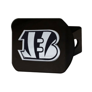 Cincinnati Bengals Chrome Emblem On Black Hitch Cover