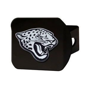 Jacksonville Jaguars Chrome Emblem On Black Hitch Cover