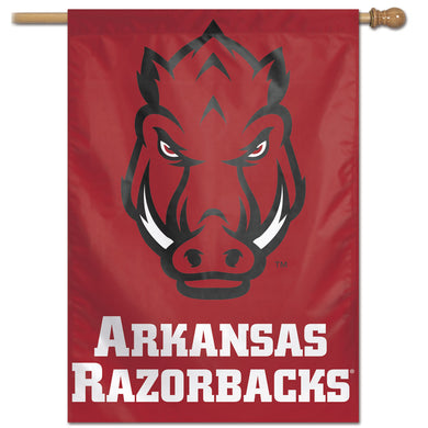 Arkansas Razorbacks Vertical Flag 28