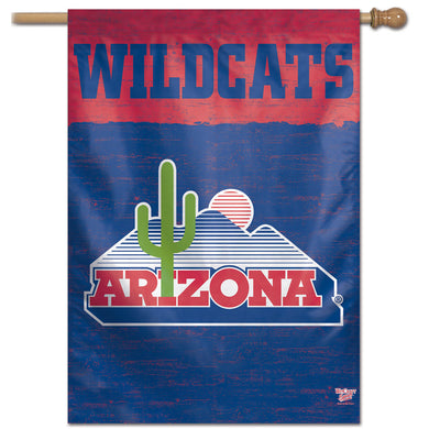 Arizona Wildcats College Vault Vertical Flag