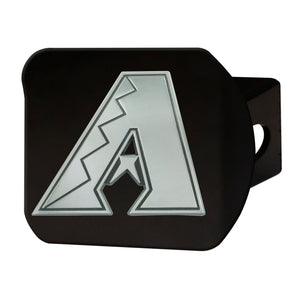 Arizona Diamondbacks Chrome Emblem On Black Hitch Cover