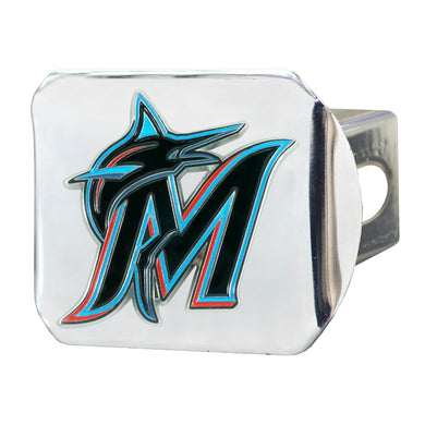 Miami Marlins Color Chrome Hitch Cover