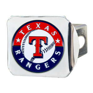 Texas Rangers Color Chrome Hitch Cover