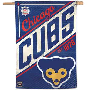 "Chicago Cubs Cooperstown Vertical Flag - 28""x40"""
