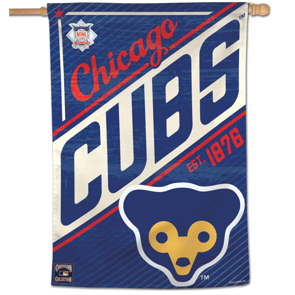 Chicago Cubs Cooperstown Vertical Flag - 28