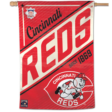 Cincinnati Reds Cooperstown Vertical Flag - 28