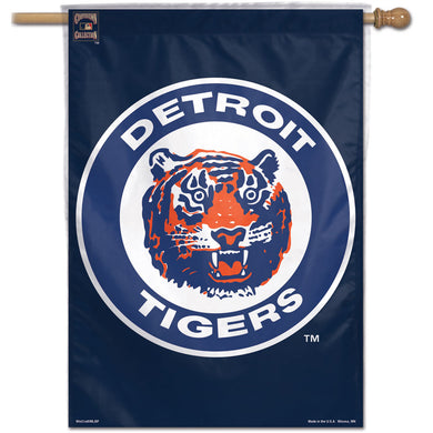 Detroit Tigers Retro Logo Vertical Flag