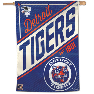 Detroit Tigers Cooperstown Vertical Flag
