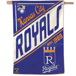 "Kansas City RoyalsCooperstown Est 1969 Vertical Flag - 28""x40"""