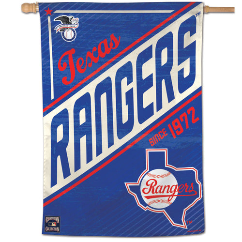 Texas Rangers Cooperstown Vertical Flag
