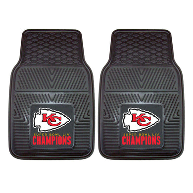 Kansas City Chiefs Super Bowl 54 Champions 2-pc Vinyl Car Mat Set