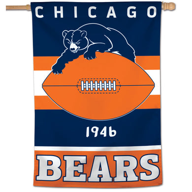 Chicago Bears Retro Vertical Flag - 28