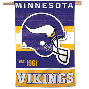 "Minnesota Vikings Retro Vertical Flag - 28""x40"""