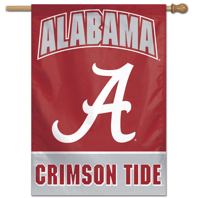 Alabama Crimson Tide Wordmark Vertical Flag 28