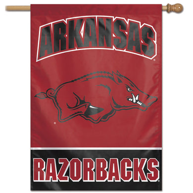Arkansas, Razorbacks Wordmark Vertical Flag 28
