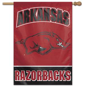 "Arkansas, Razorbacks Wordmark Vertical Flag 28""x40"""