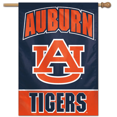Auburn Tigers Wordmark Vertical Flag 28