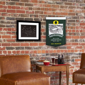 "Oregon Ducks Autzen Stadium Banner - 15""x24"""