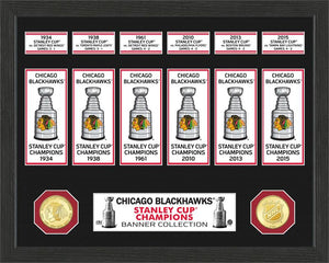 Chicago Blackhawks 6 Time Stanley Cup Champions