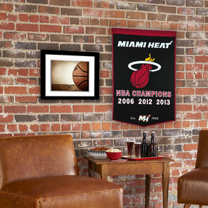 "Miami Heat Dynasty Wool Banner - 24""x36"""