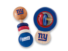 New York Giants Baby Rattles Set, NFL Baby Rattles