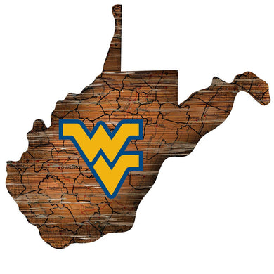 wvu football, wvu state wood sign, west virginia wood sign