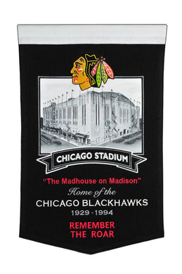 Chicago Blackhawks Chicago Stadium Banner - 15
