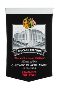 "Chicago Blackhawks Chicago Stadium Banner - 15""x24"""