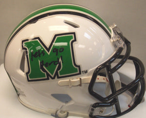 Sports memorabilia signed mini Marshall University helmet by Aaron Dobson from Sports Fanz