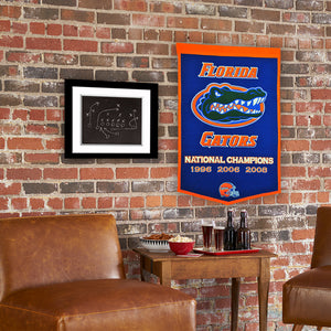 "Florida Gators Dynasty Wool Banner - 24""x36"""