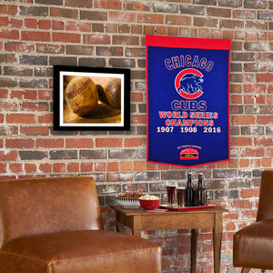 Chicago Cubs 3 Time World Series Champions Dynasty Banner
