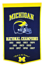 "Michigan Wolverines Dynasty Wool Banner - 24""x36"""