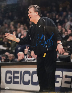 Bob Huggins West Virginia Mountaineer Signed 16x20 Photo