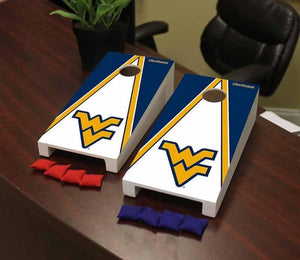 west virginia mountaineers desk top corn hole