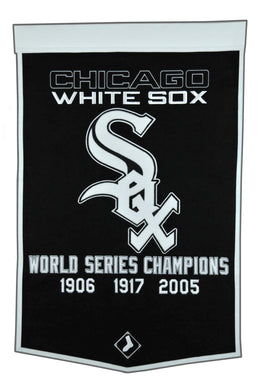 chicago white sox world series champions wool dynasty banners