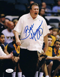 wvu basketball, bob huggins autograph, press virginia