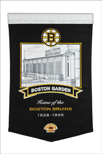 "Boston Bruins Boston Garden Arena Banner - 15""x24"""