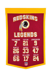 "Washington Football Team Legends Banner - 14""x22"""