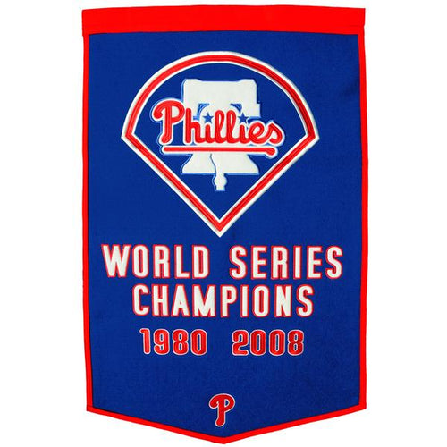 philadelphia phillies world series champions wool dynasty banners