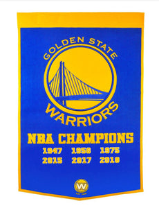 "Golden State Warriors Dynasty Wool Banner - 24""x36"""