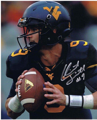 wvu football, clint trickett autograph