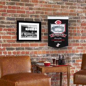 "Cincinnati Reds Great American Ballpark Banner - 15""x24"""