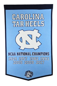 "North Carolina Tar Heels Dynasty Wool Banner - 24""x36"""