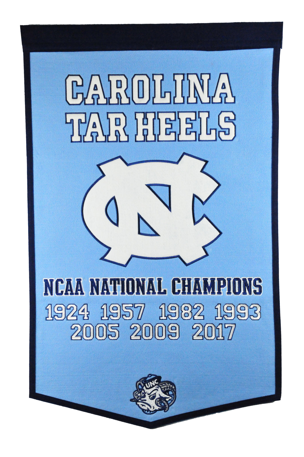 North Carolina Tar Heels Dynasty Wool Banner - 24