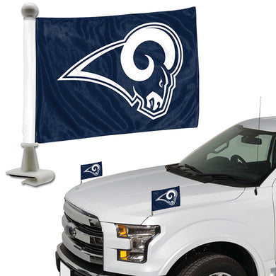 la rams car flag, los angeles rams car flag