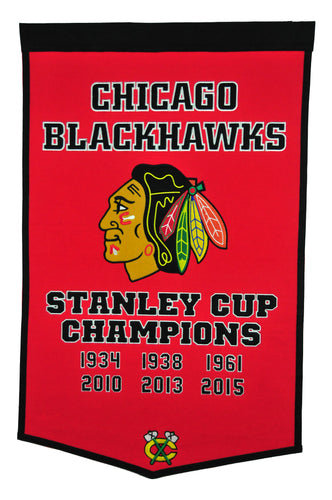 chicago blackhawks stanley cup champions dynasty banner